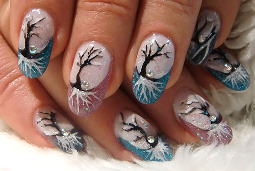 winter nailart nageldesign und von petra rivers peri nails pictures. Black Bedroom Furniture Sets. Home Design Ideas